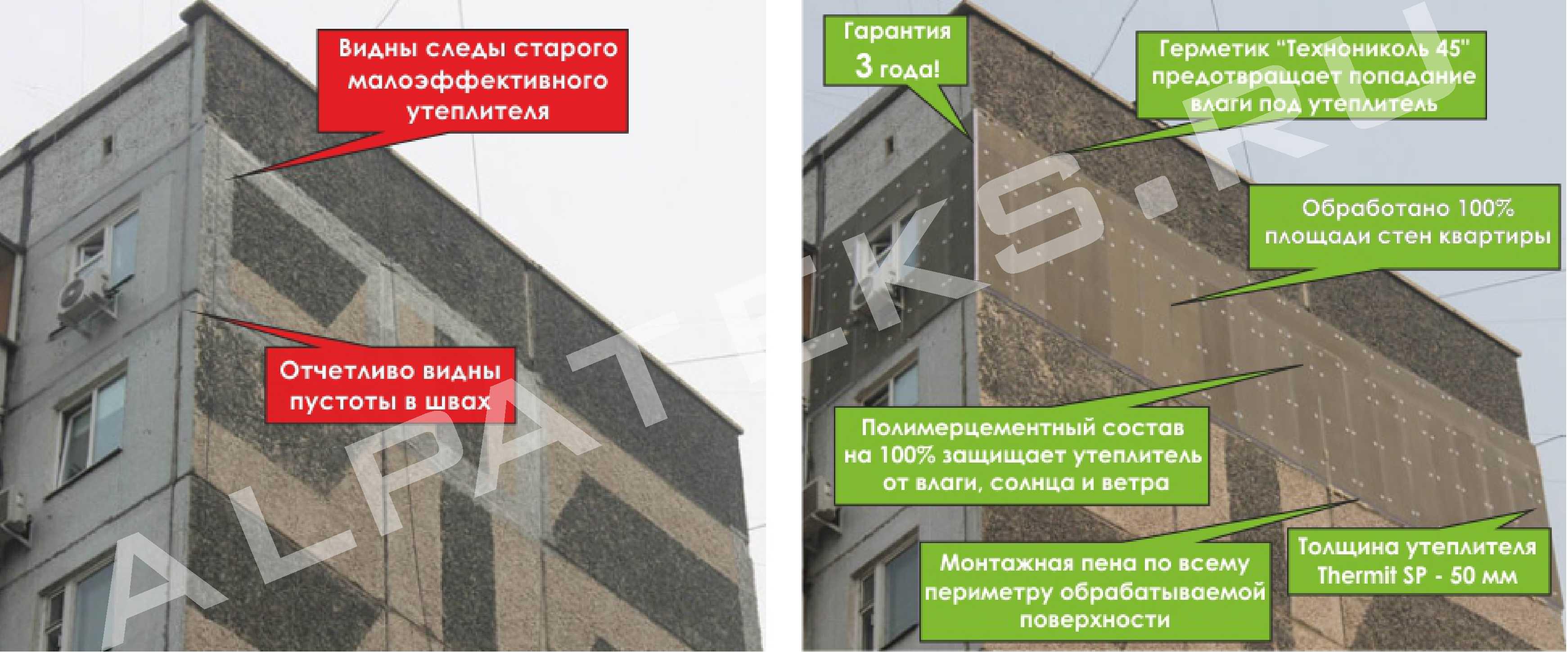 Стоимость утепления фасада минеральной ватой